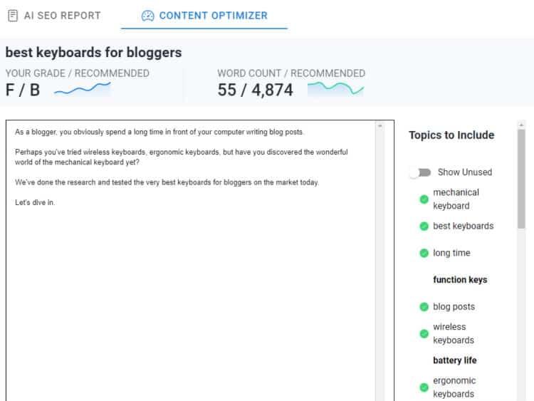 RankIQ's Content Optimizer